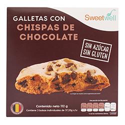 Galletas Chispas de Chocolate Sweetwell Sin Azúcar 112 g