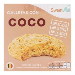Galleta Sweetwell Coco Sin Azúcar 112 g