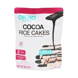 Galletas de Arroz Okko Super Foods Cocoa 16 g x 2 U