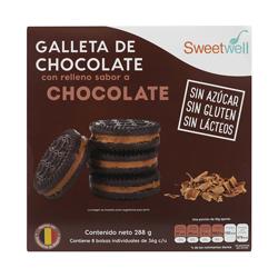 Galleta de Chocolate Sweetwell Rellena  de Chocolate 288 g