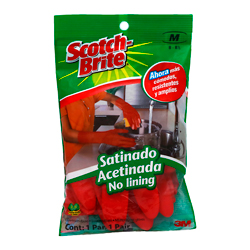 Guante Scotch-Brite Multiusos Satinados Par 1 U