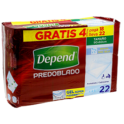 Incontinencia Protectores Para Adulo 18 U