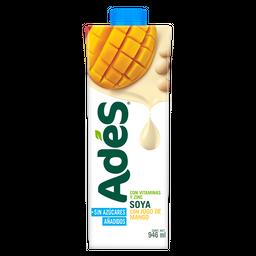 Bebida a base de soya con jugo de mango , sin azúcares añadidos