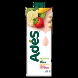 Bebida a base de soya con jugo de frutas tropicales