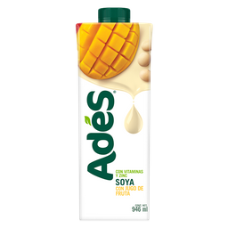 Bebida a base de soya con jugo de fruta