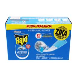 Laminas Repelentes Raid Contra Mosquitos y Zancudos 12 U