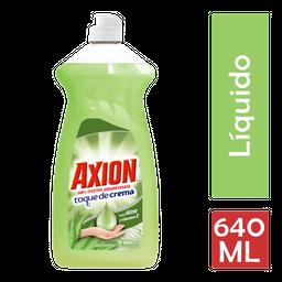 Lavatrastes Axion Toque De Crema Líquido 640 Ml