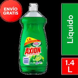 Lavatrastres Líquido Axion Limón 1.4L