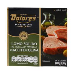 Lomo de Atún Dolores Premium Sólido  En Aceite De Oliva 140 g