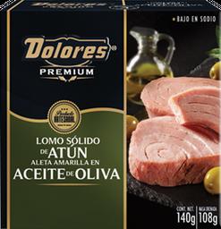 Lomo Sólido de Atún Dolores Premium en Aceite de Oliva 140 gr