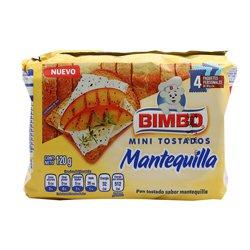 Pan Tostado Bimbo Mini  Tostados Mantequilla 120 g