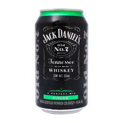 Cooler Jack Daniels Ginger Lata 350 mL