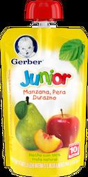 Papilla Gerber Junior Manzana Pera y Durazno 120 g