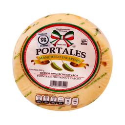 Queso Manchego Portales Con Jalapeño 300 g