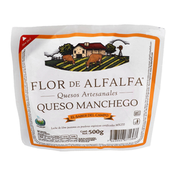 Queso Manchego Flor de Alfalfa Orgánico 500 g