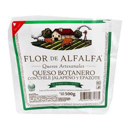 Queso Flor de Alfalfa Con Chile Jalapeño y Epazote 500 g