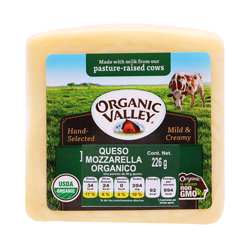 Queso Mozzarella Organic Valley 226 g