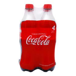 Refresco Coca-Cola Regular Botella 600 mL x 4