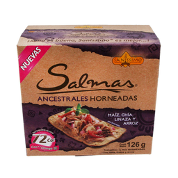 Tostadas de Maíz Salmas Ancestrales Chía, Linaza, Arroz 126 g