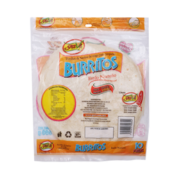 Tortilla De Harina Para Burritos 10 Us 500 g
