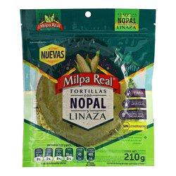 Tortilla Milpa Real Con Nopal y Linaza 210 g