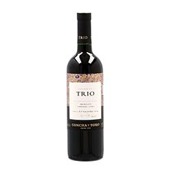 Vino Tinto Trio Reserva Merlot Chile 750 mL