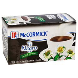 Té Negro McCormick Sin Saborizantes 25 U