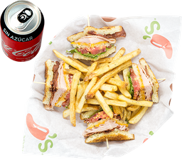 Envío Gratis: Cajun Club Sandwich + Coca-Cola Sin Azúcar