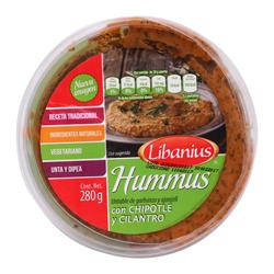 Hummus Libanius Chipotle y Cilantro 280 g