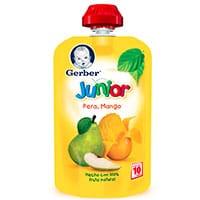 Papilla Gerber Junior Pera y Mango 120 g