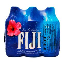 Agua Fiji Natural 500 mL x 6