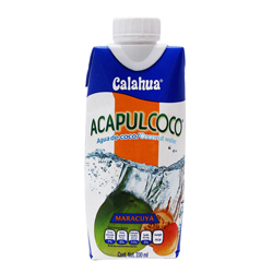 Agua de Coco Acapulcoco Maracuya 330 mL