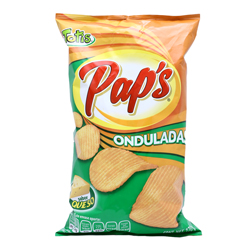 Botanas Pap's Papas Onduladas Sabor Queso 170 g