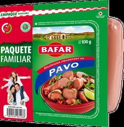 Salchicha de pavo tipo frankfort Bafar familiar 830 g