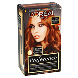 Tinte Preference 7.34 LOréal Paris