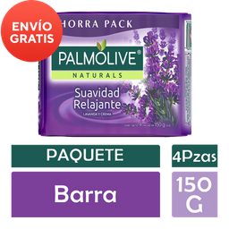 Jabón de Tocador Palmolive Naturals Lavanda y Crema 150 g X 4