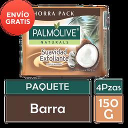 Jabón Tocador Palmolive Naturals 4 Piezas de 150 g  c/u