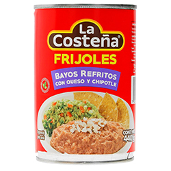 Frijoles Bayos La Costeña Refritos con Queso y Chipotle 440 g