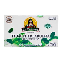 Té La Pastora de Hierbabuena  Sin Cafeína 1.41 g x 25 U