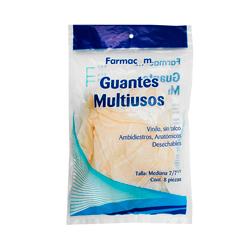 Guante Multiusos Farmacom Vinilo Ambidiestros 8 U