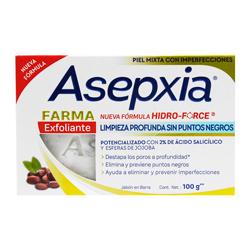 Jabón Antiacné Asepxia Farma Exfoliante 100 g