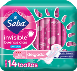 Saba Toallas Femeninas  Invisible Delgada Con Alas