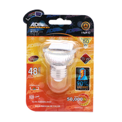 Foco 48 Super Leds 5 Watts Calido 1 U