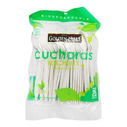 Cuchara Biodegradable Fecula De Maiz 6 25 U
