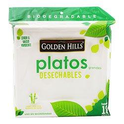 Plato Cuadrado Biodegradable Bagazo De C 18 U