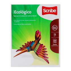 Hojas Blancas Scribe Ecológico 75 Pcta 500 U