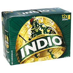 Cerveza Indio Oscura 355 mL x 12