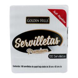 Servilleta Desechable Golden Hills Premium 100 U