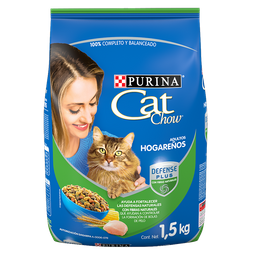Alimento Para Gato Cat Chow Adultos Hogareños 1.5 Kg