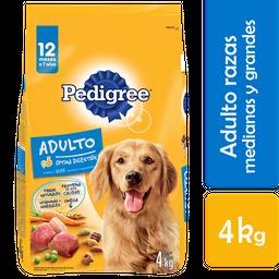 Alimento Para Perro Pedigree Adulto Raza Mediana 4 Kg